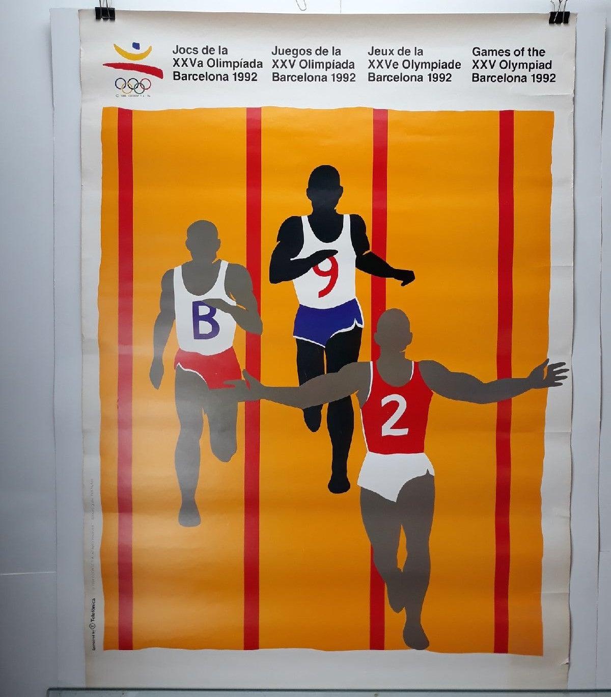 Olympic poster 1992 Barcelona, 90s art p