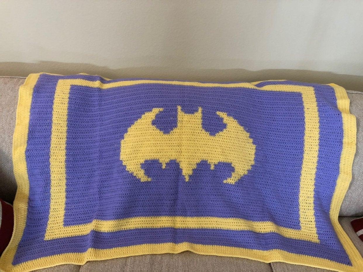Batgirl crochet throw