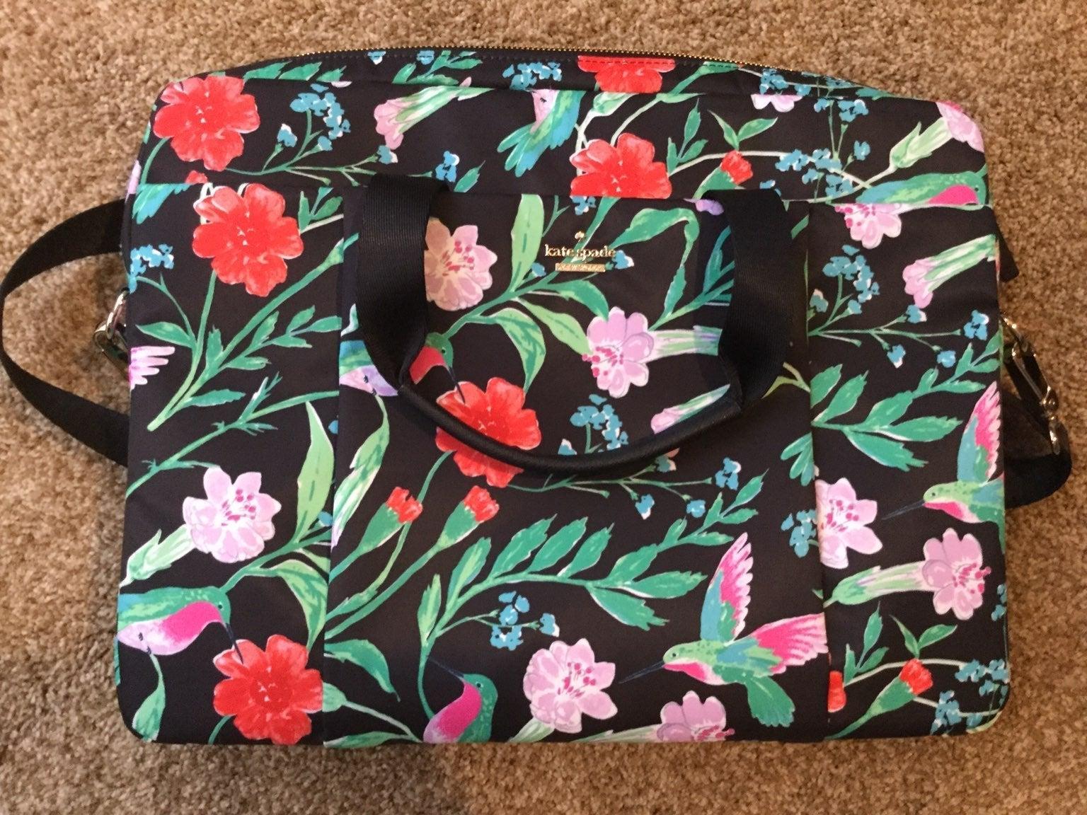 Kate Spade nylon hummingbird  briefcase
