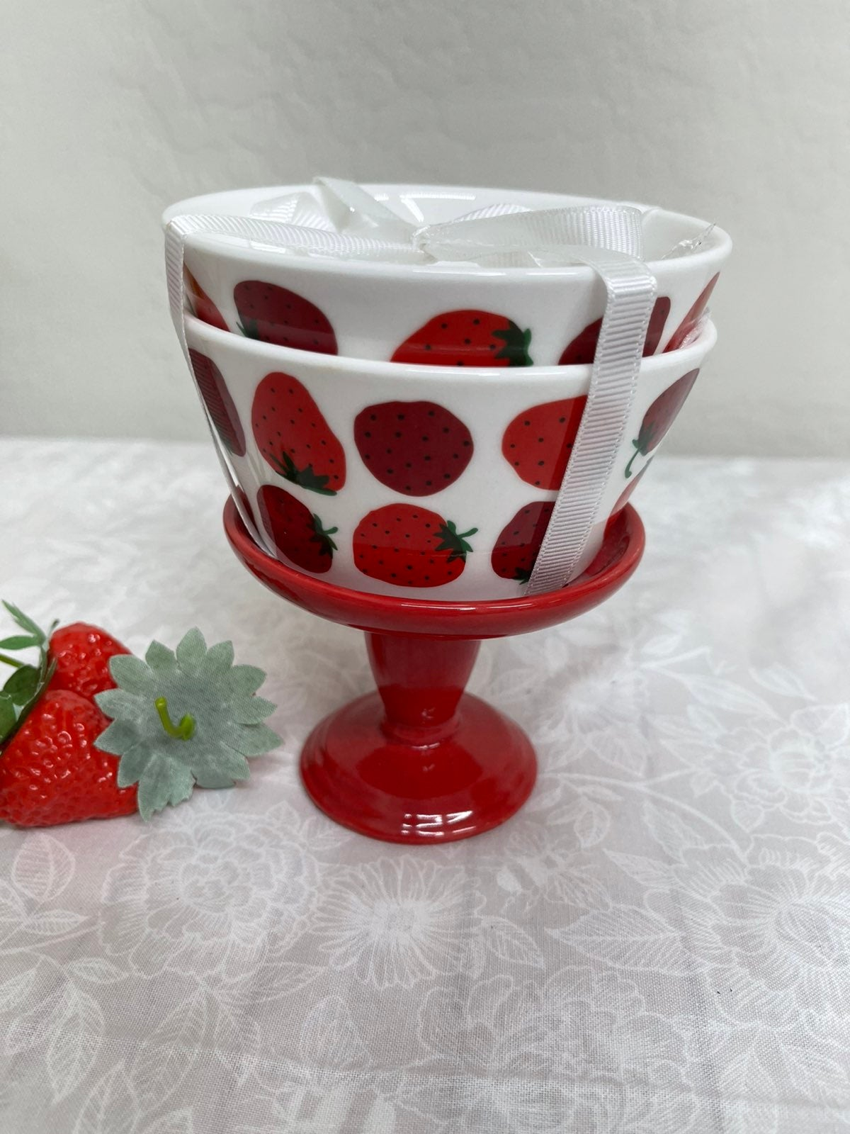 Grace Ceramics Strawberry Dishes