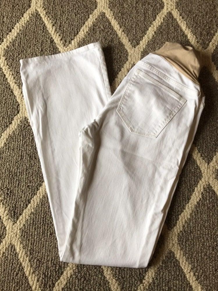 Gap white maternity jeans
