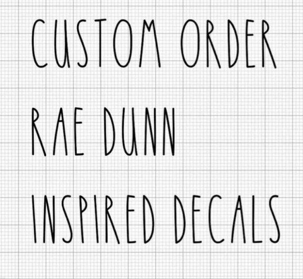 Rae Dunn inspired vinyl decals!