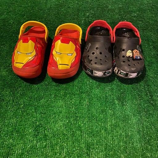 Crocs lot boys J1 iron man starwars