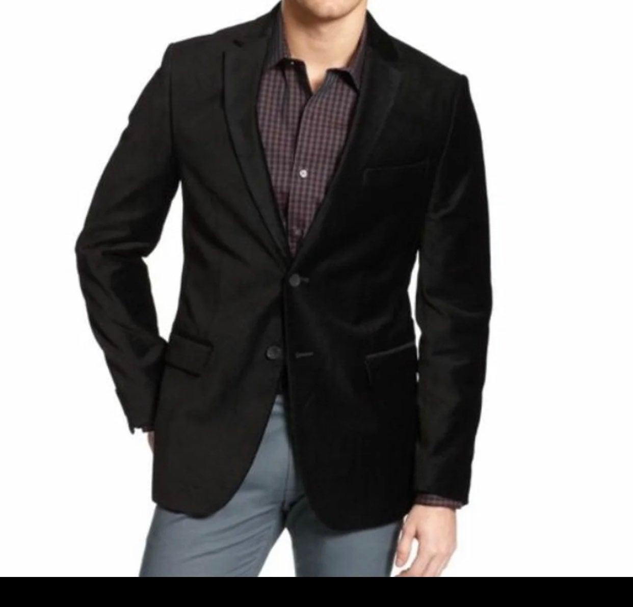 Alfani men's black velvet sport coat Lar