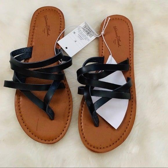 wemens Multi Strap Thong Sandals 7