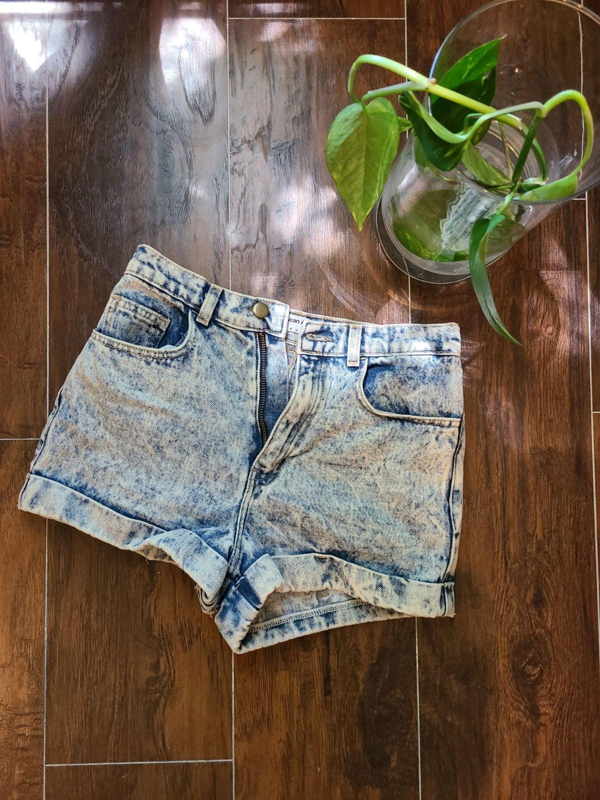 American apparel high waisted Jean Short