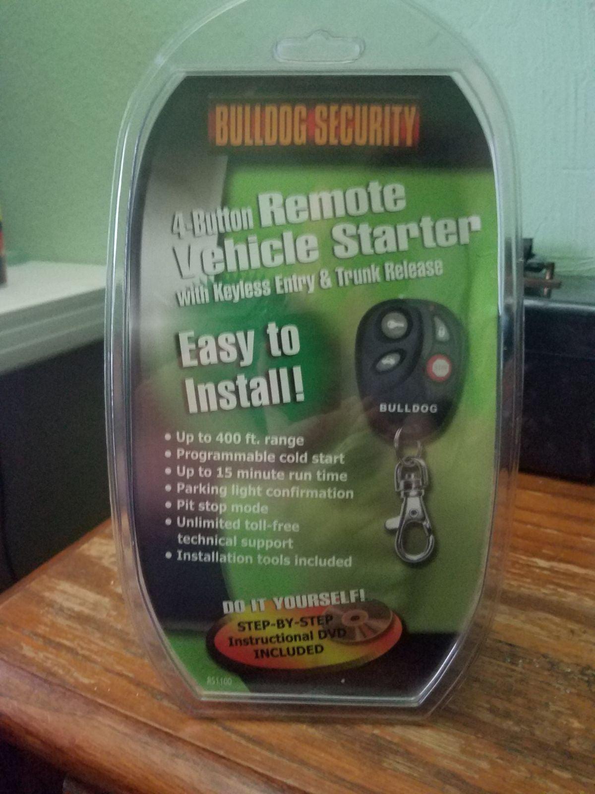 4 Button Remote Vehicle Starter w/Keyles