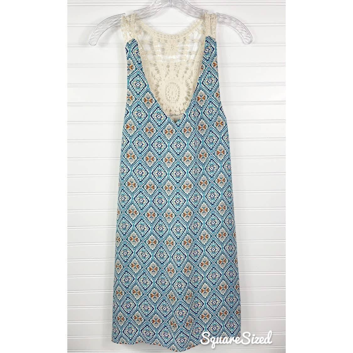 NWT As You Wish Aztec Lace Tank Dress