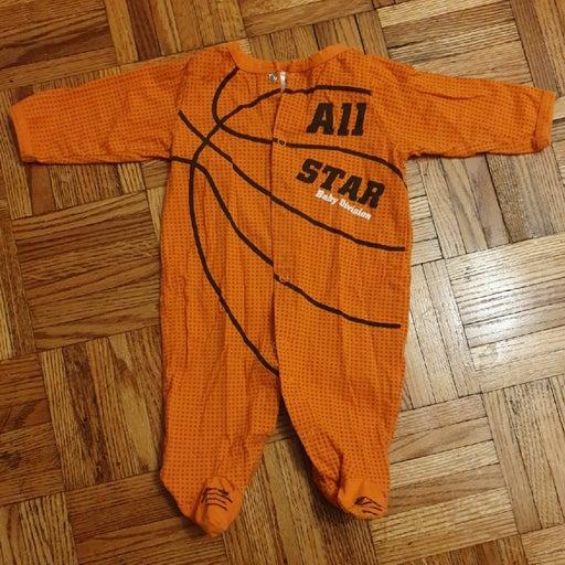 Basketball onesie 0-6 months All Star ba