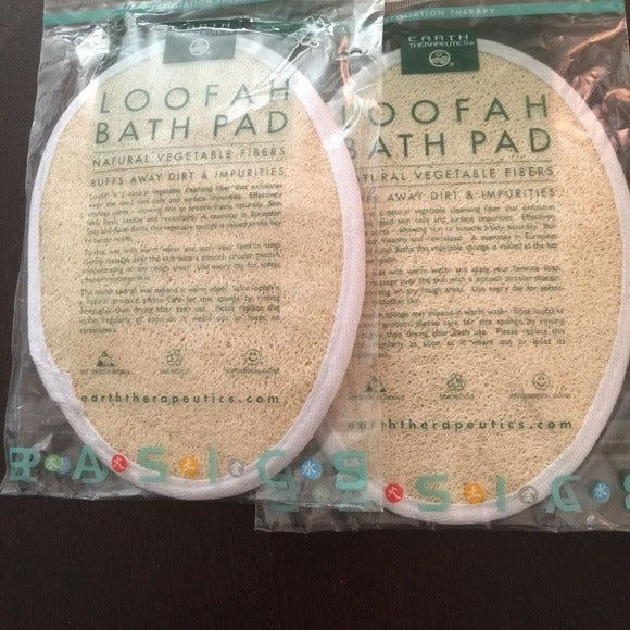 Natural Loofah Bath Pad - Set of 2