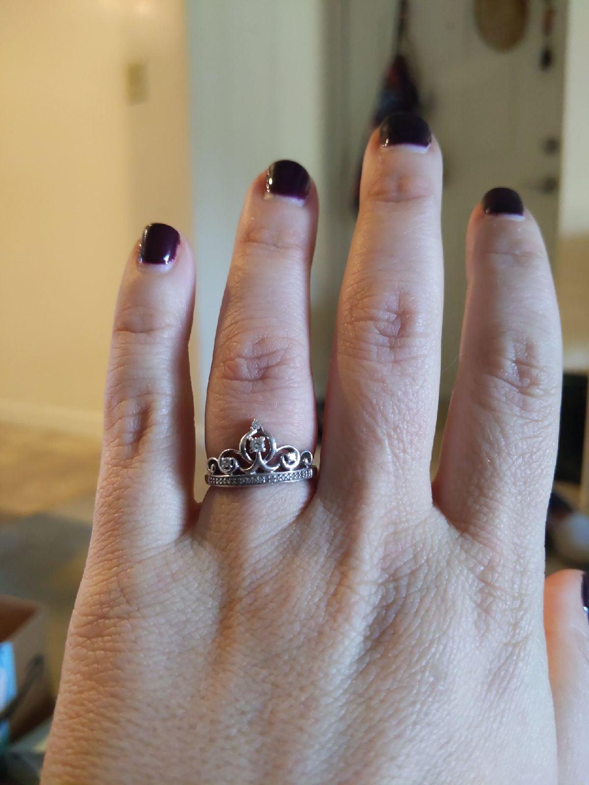 Cinderella SS 1/7CTTW Diamond Ring Size