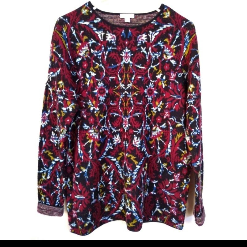 J. Jill Pullover Floral Patterned Sweate