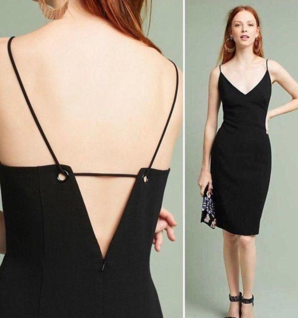 Black Halo Strappy Dress Size 2