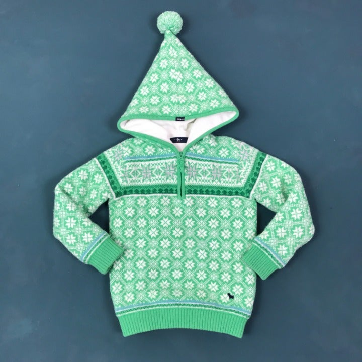 Hooded Sweater with Fleece Lining - 5T