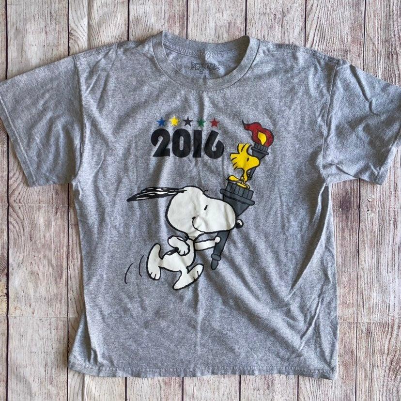 Peanuts 2016 Olympics Tshirt Unisex larg