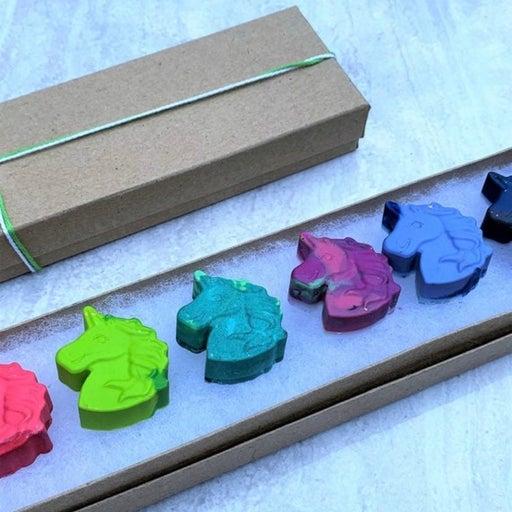 Unicorn Crayon Shapes Gift Box