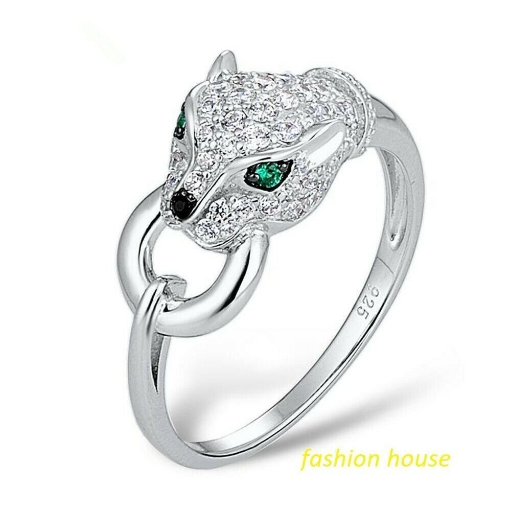 925/18K LEO EMERALD RING SIZE 9