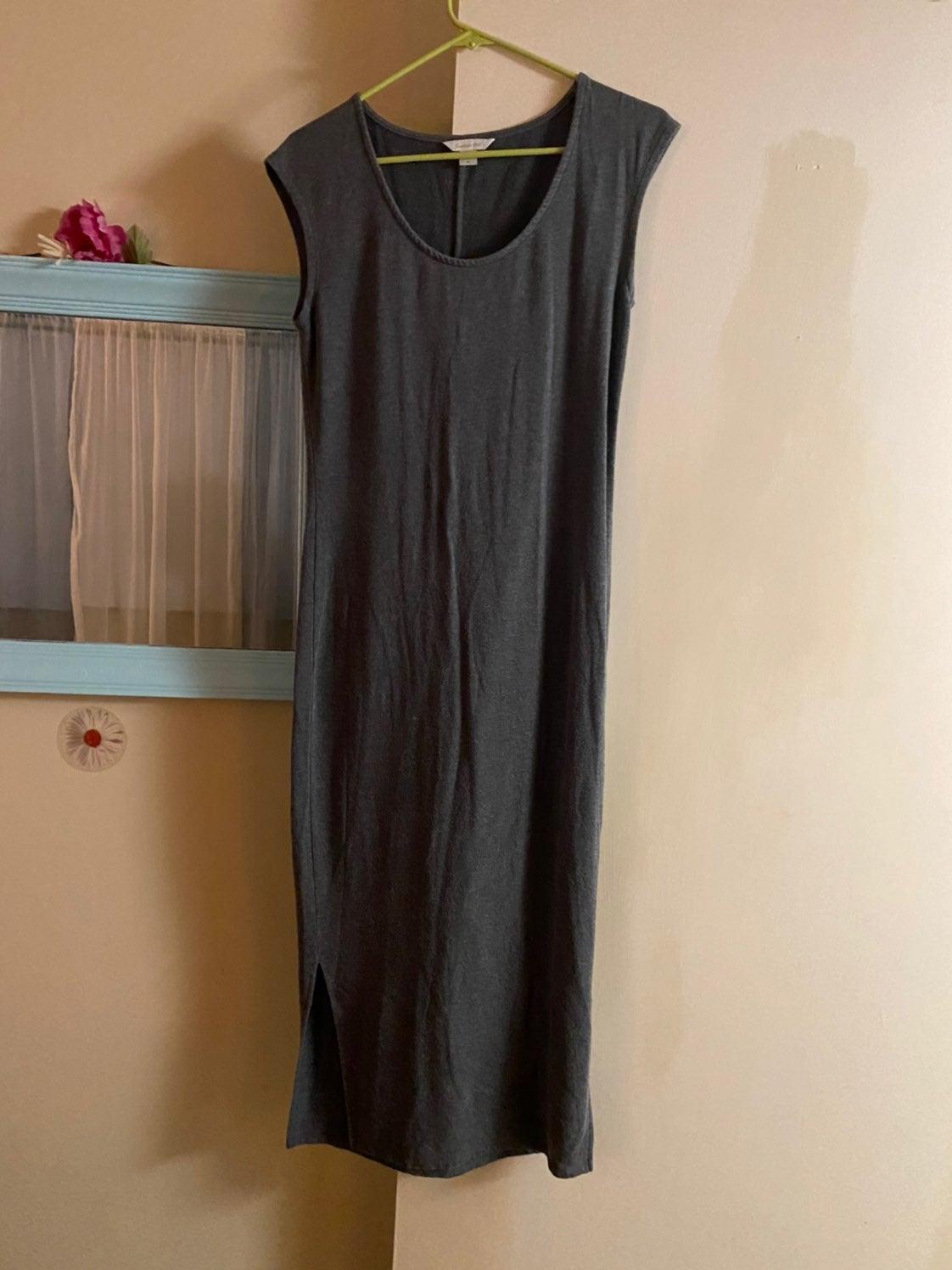 Long Grey Sleeveless Dress