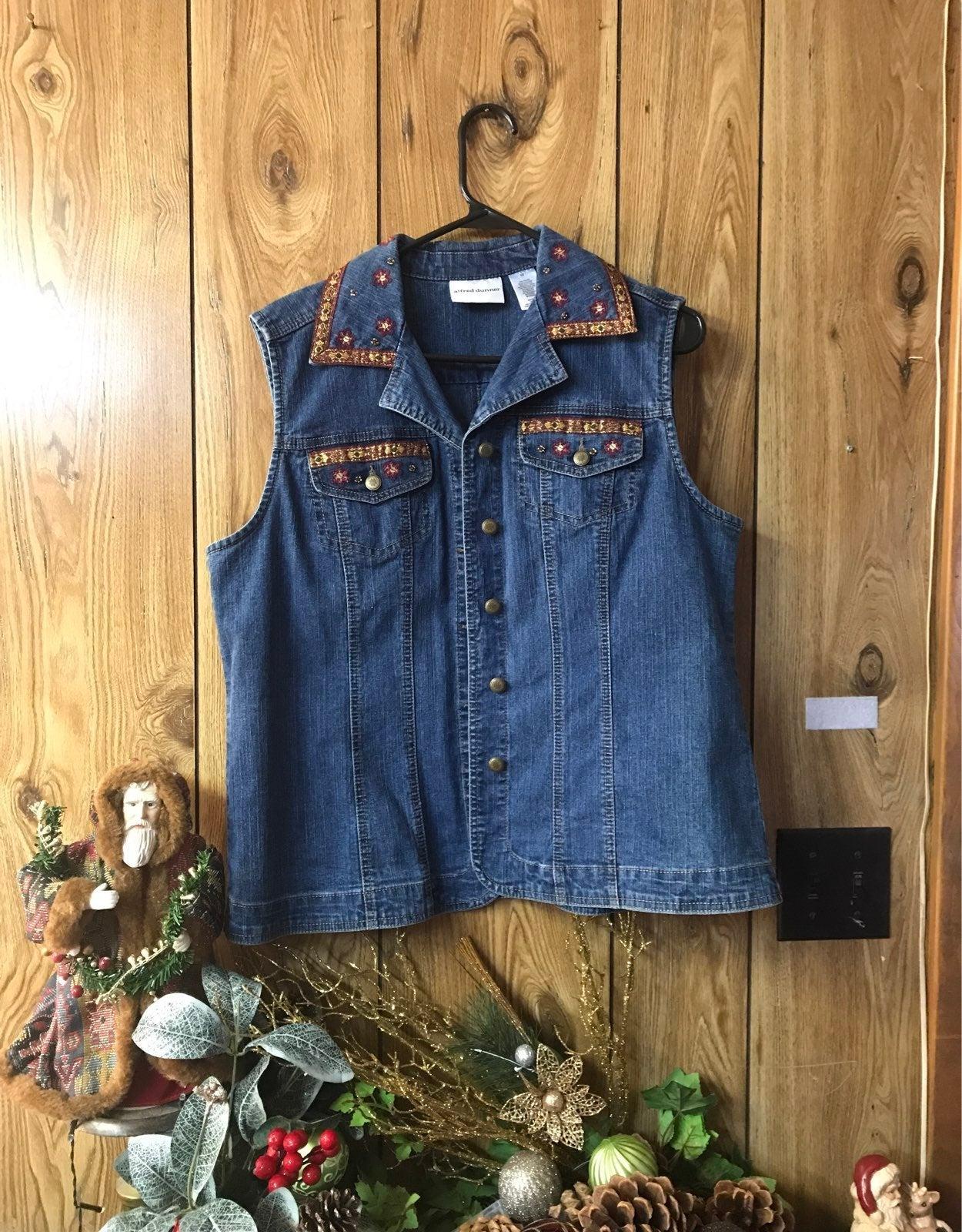 Denim Vest and skirt