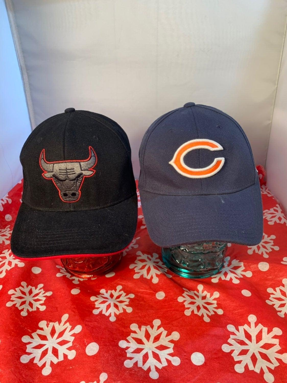 Chicago Teams NFL NBA Hat Lot 2 Bulls