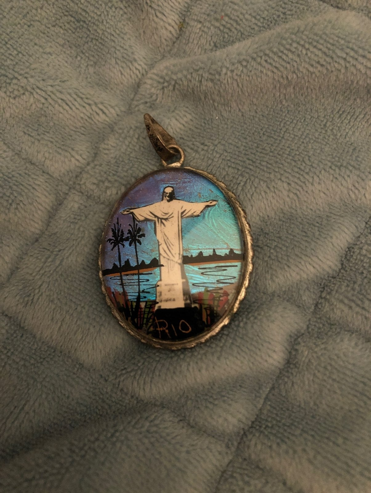 Vintage Christ The Redeemer pendent ster