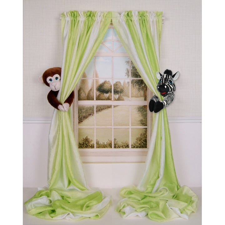 Monkey & Zebra Curtain Tieback Holdbacks