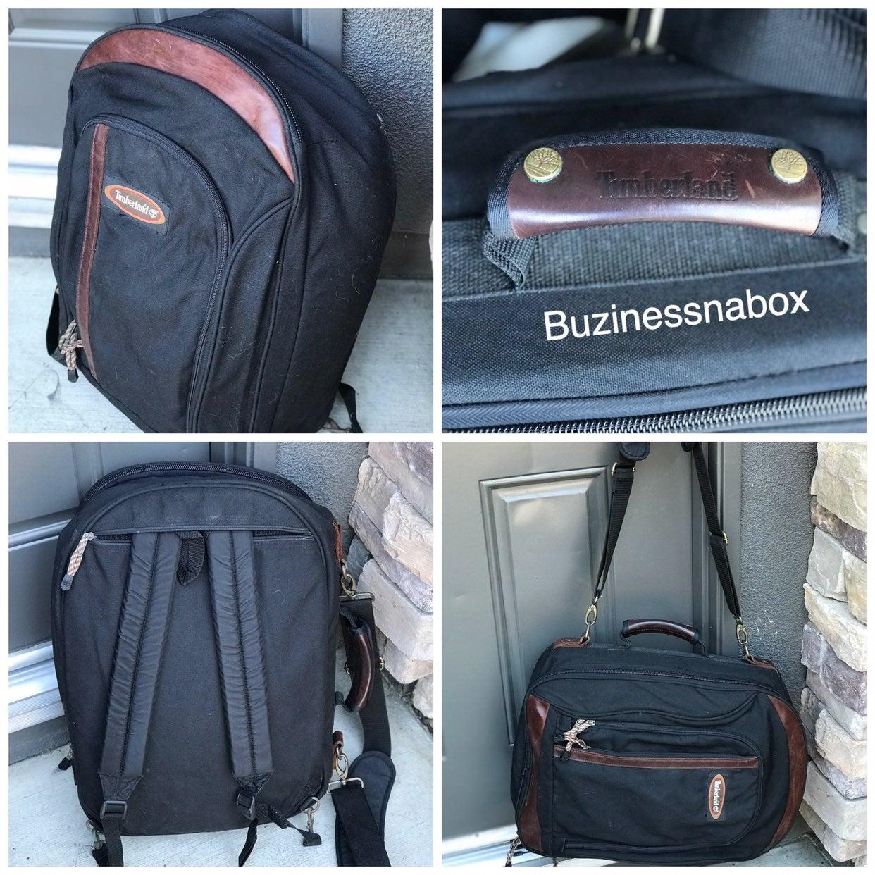 Vtg Timberland 3in1 Travel Bag Backpack