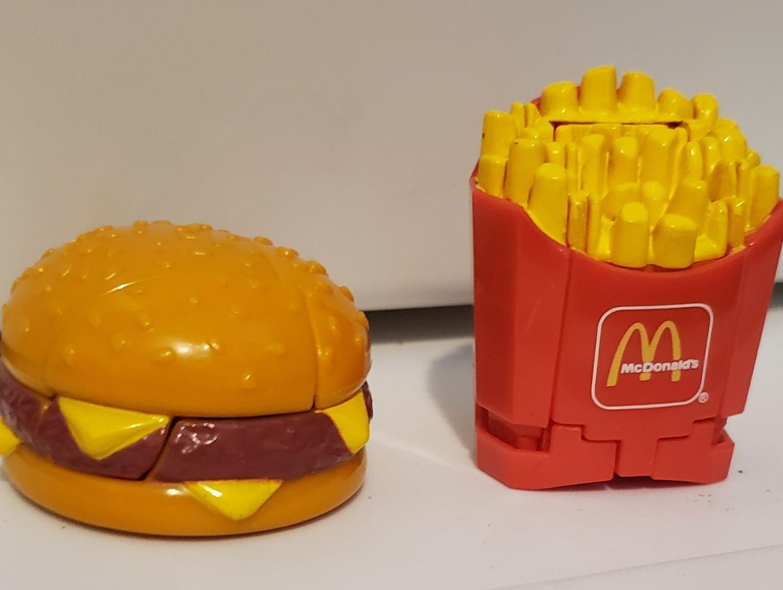vintage McDonald's transformers toys