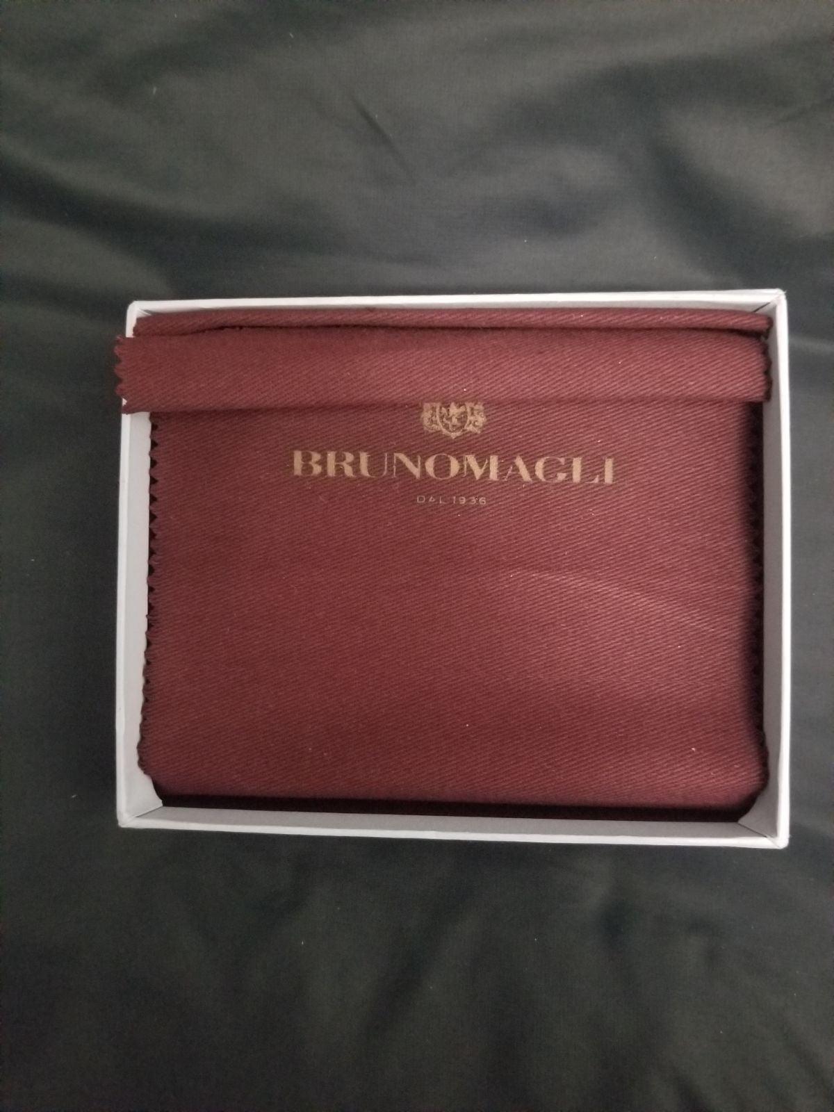 Bruno Magli Black Leather Wallet