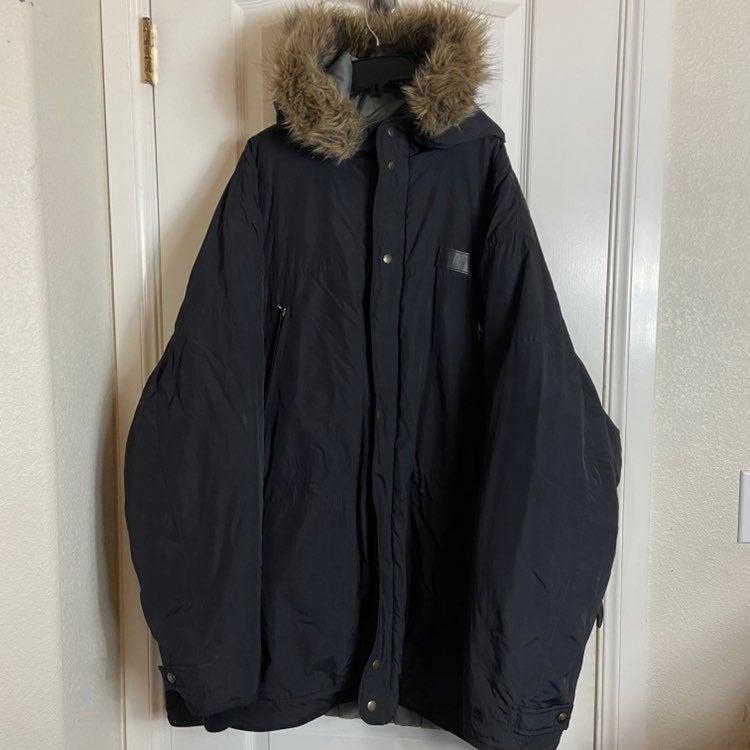 Mens 3xl Ecko hooded fur jacket