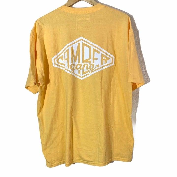 CAMBER GANG Men Sz XL Vintage Yellow T