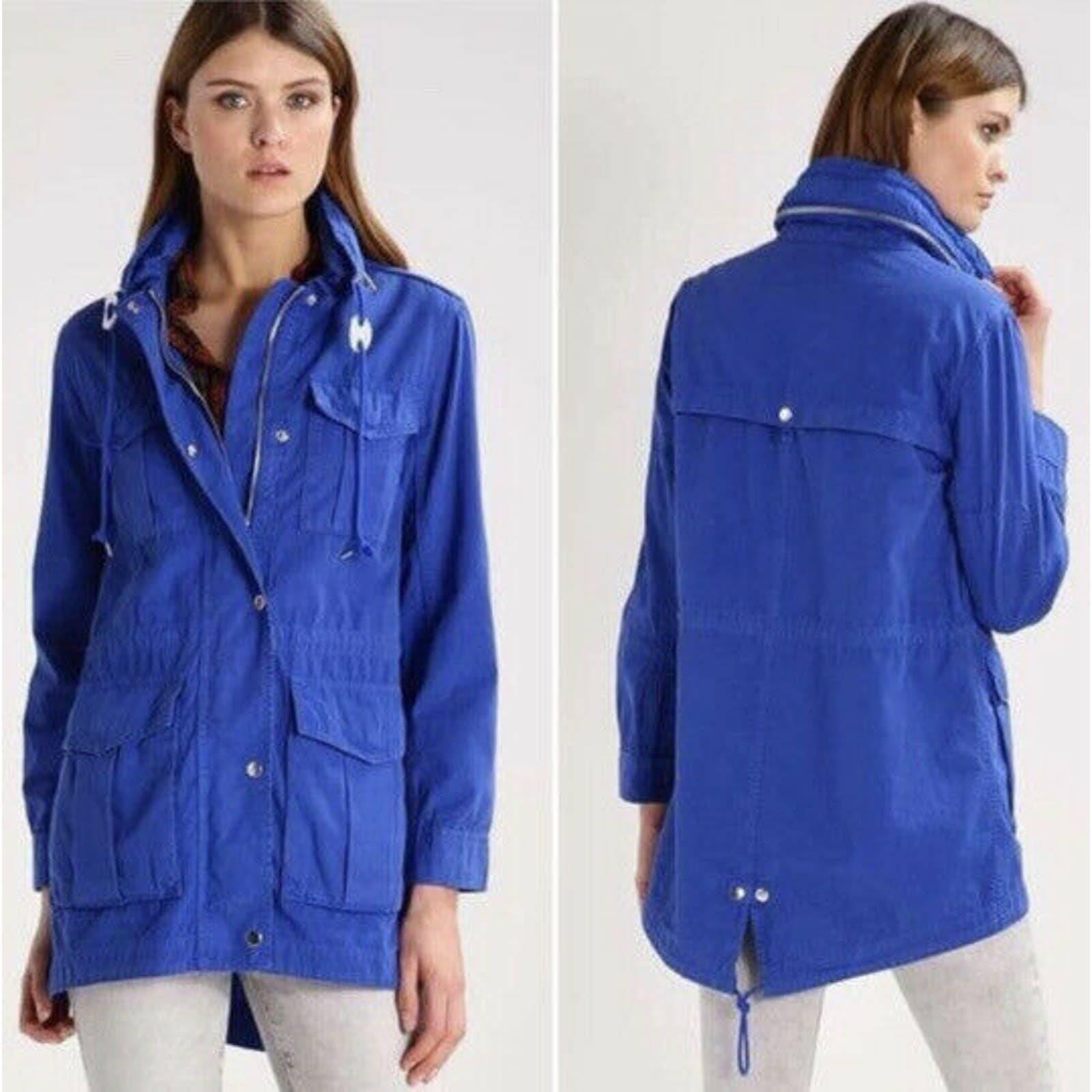J.Crew Fatigue jacket blue military
