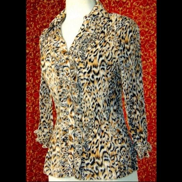 SIONI accordion pleated blouse M
