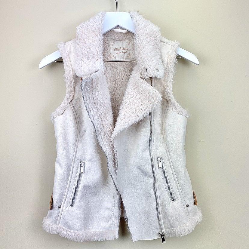 Altar'd state faux suede zip-up vest