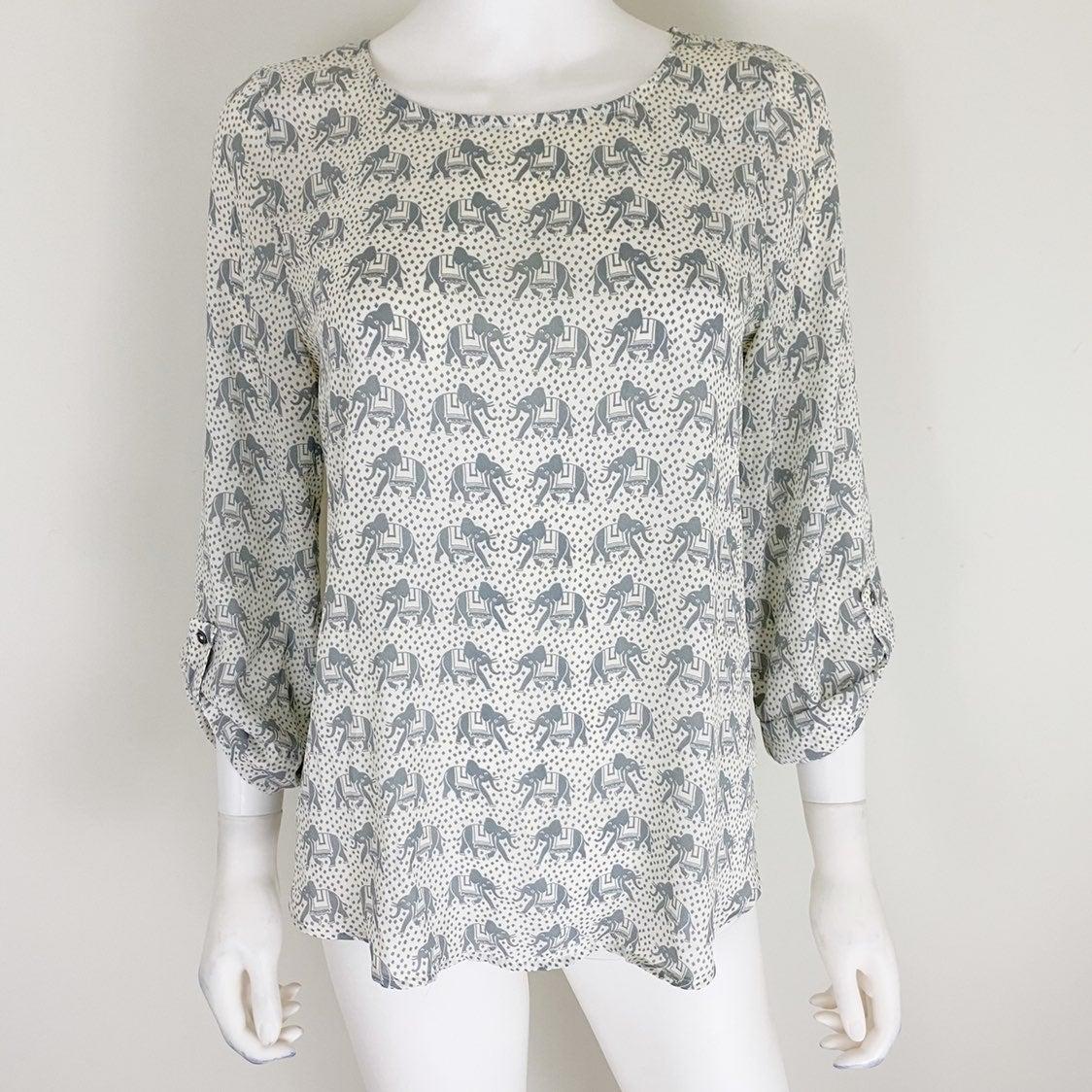 41 Hawthorn S Tunic Ellie Elephant Print