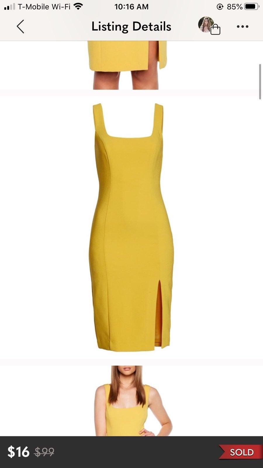 Bardot Leila Slit Sheath Dress