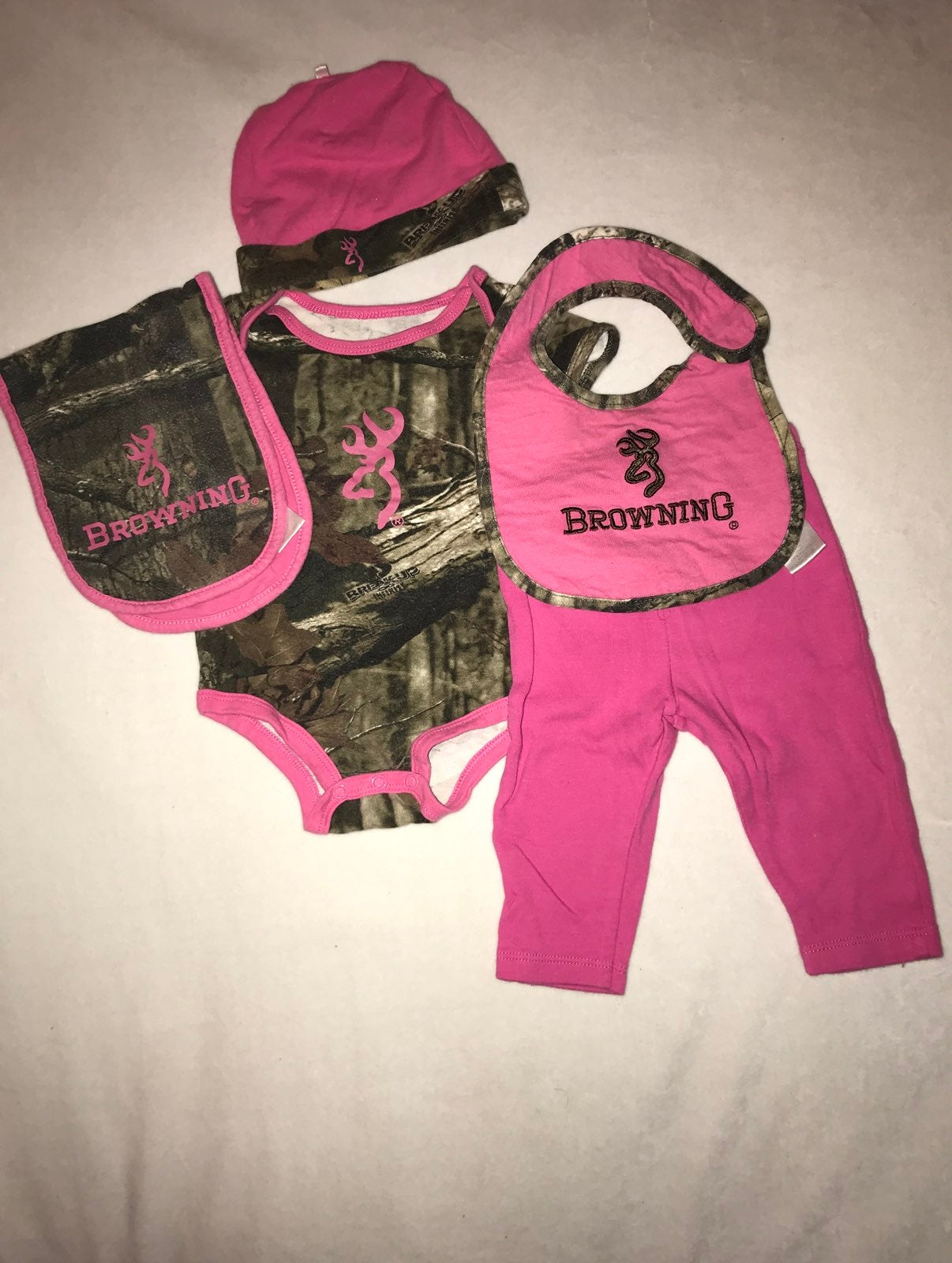 Browning baby girl 6 months set.