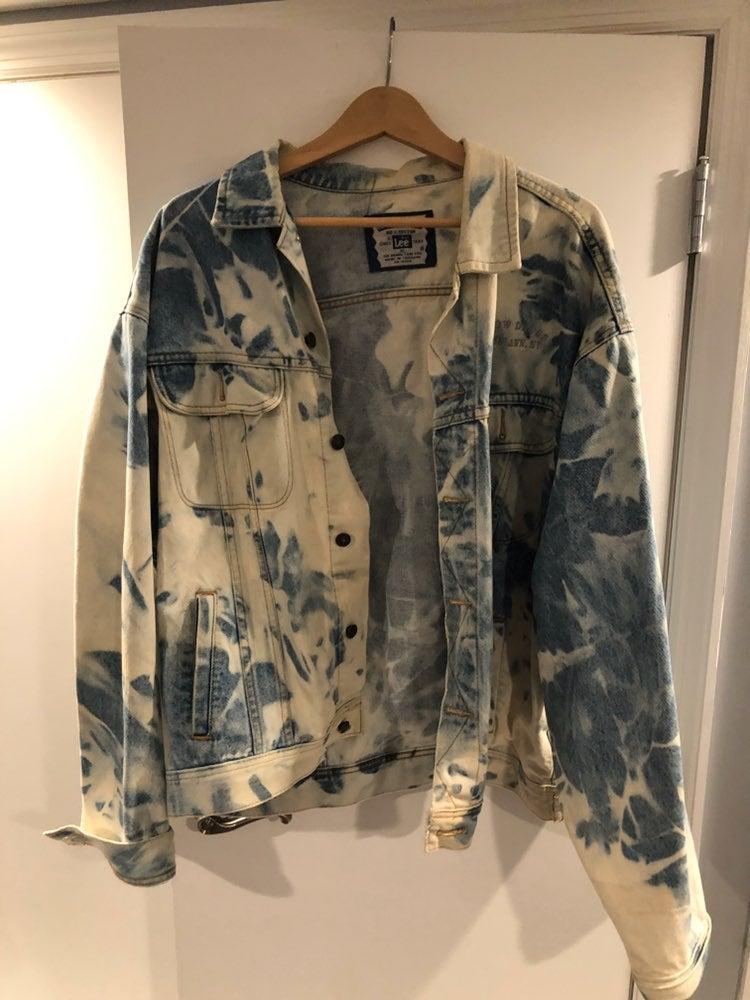 Lee Vintage Acid Washed Jean Jacket XL