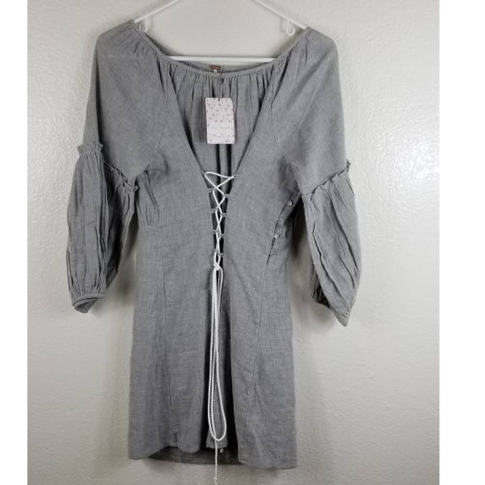 Free People Gray Dress Sz Small