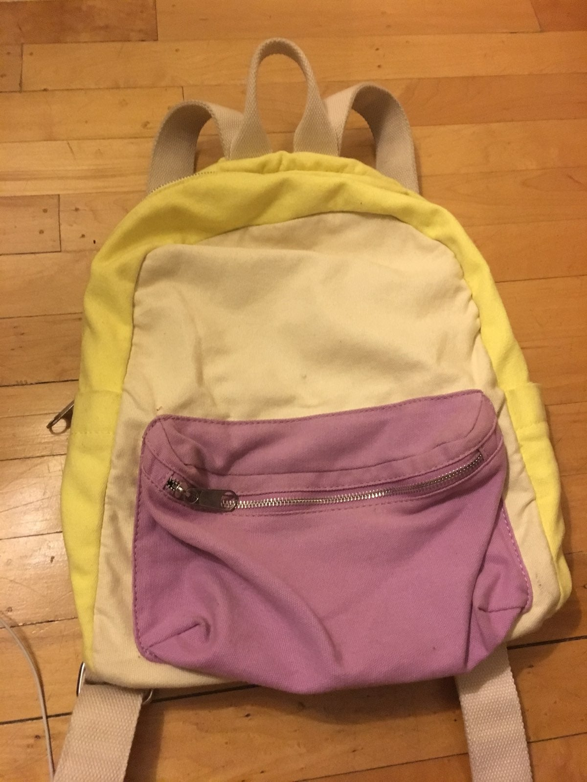 Urban Outfitters Yellow/Purple Backpack