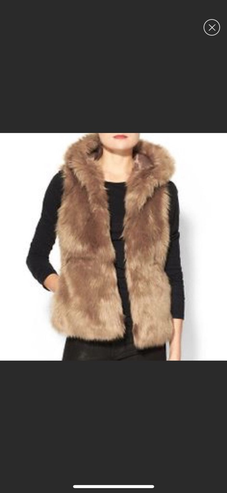 Sabine Faux Fur Hooded Vest