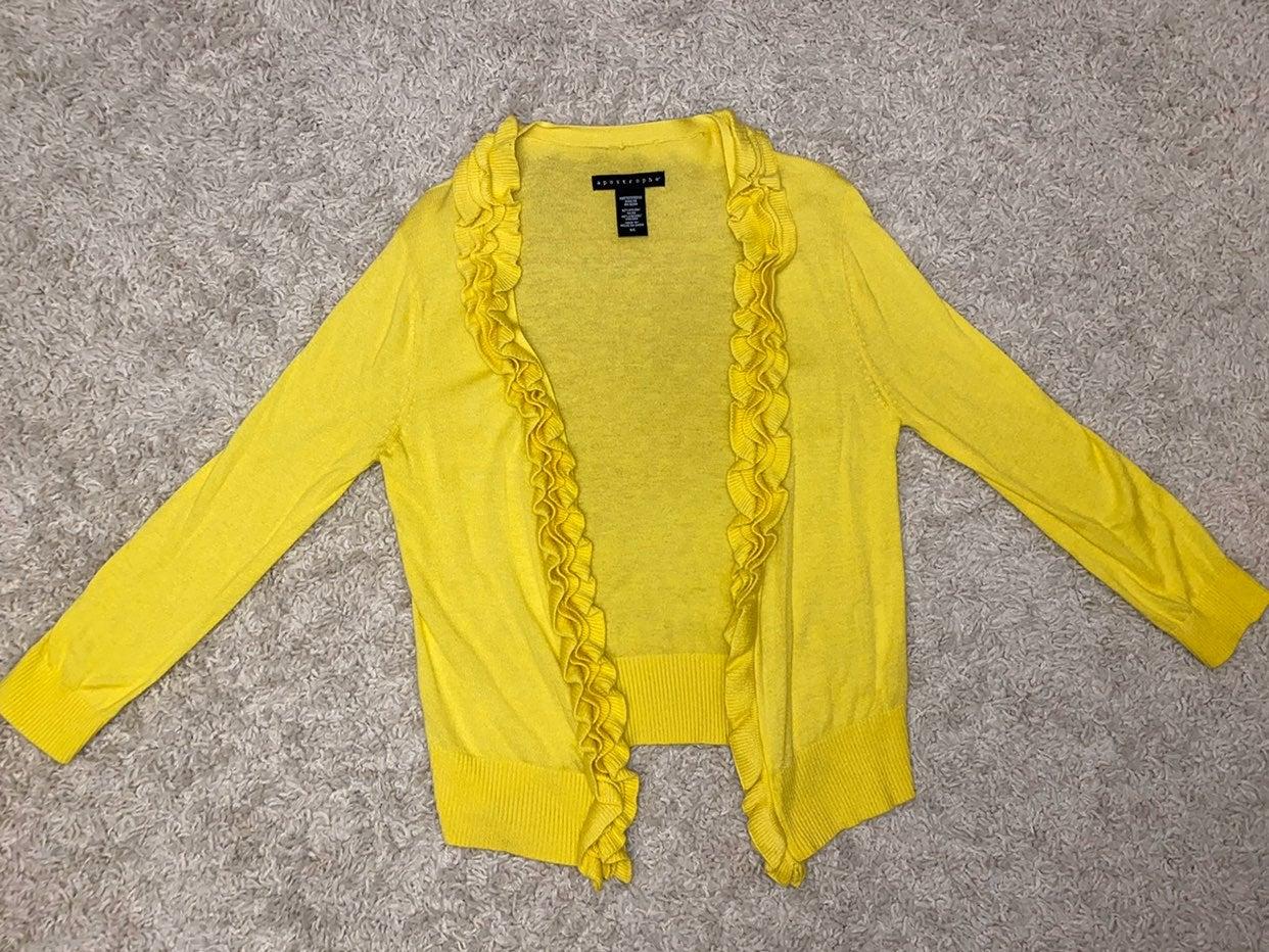 Apostrophe yellow cardigan