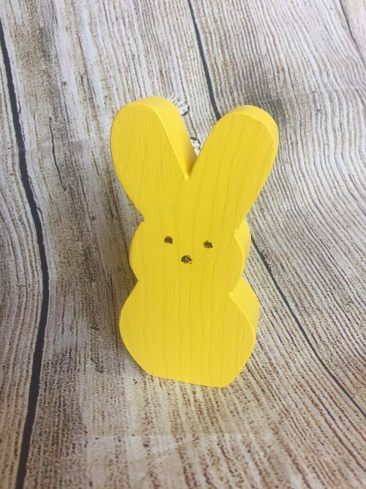 Wooden Bunny Peep Easter Decoration