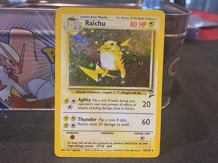 Pokemon raichu holo card