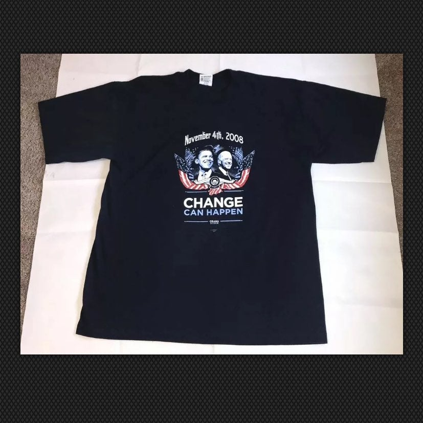 Barack obama biden t-shirt 2008 XL
