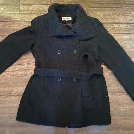 Black Calvin Klein Coat Peacoat Size 12