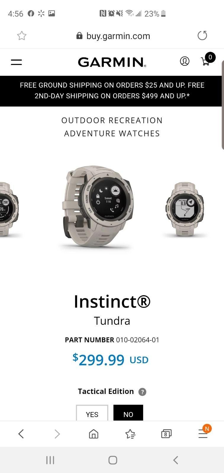 garmin watch instinct tactical tundra