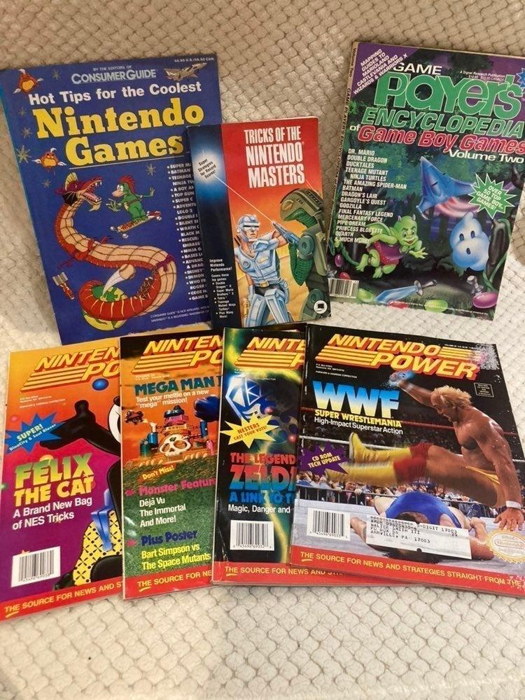 vintage NINTENDO gameboy MAGS