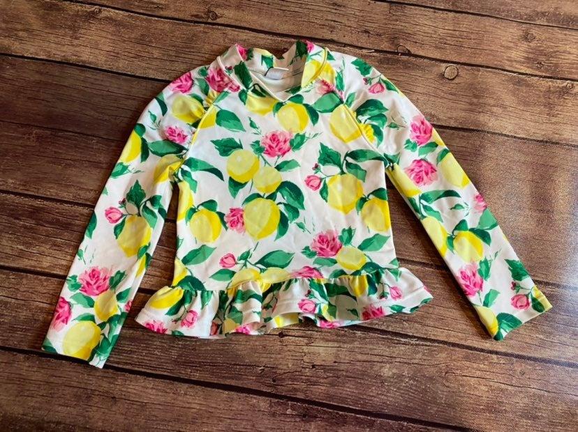 Janie & jack lemon floral rashguard 3