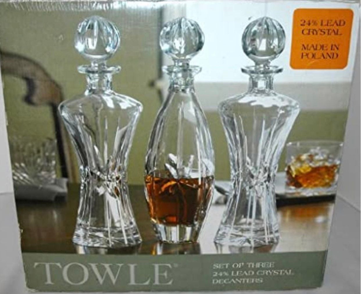 Never Used Towle Crystal Decanter Set